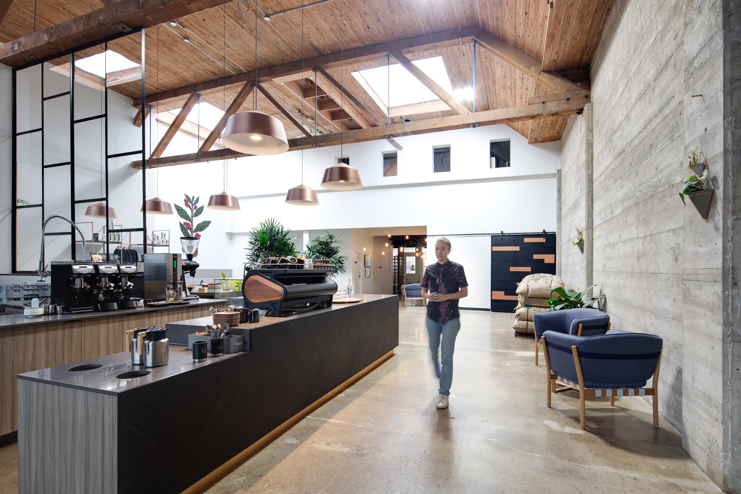 Counter in Pallet Coffee Roasters HQ by Alice D'Andrea