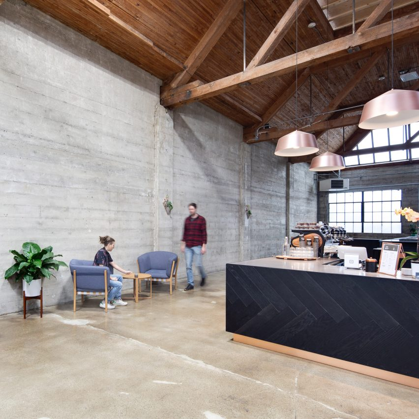 Alice D'Andrea creates industrial coffee roastery in Vancouver steel foundry
