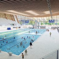 VenhoevenCS and Ateliers 2/3/4/ reveal timber aquatic centre for Paris 2024 Olympics