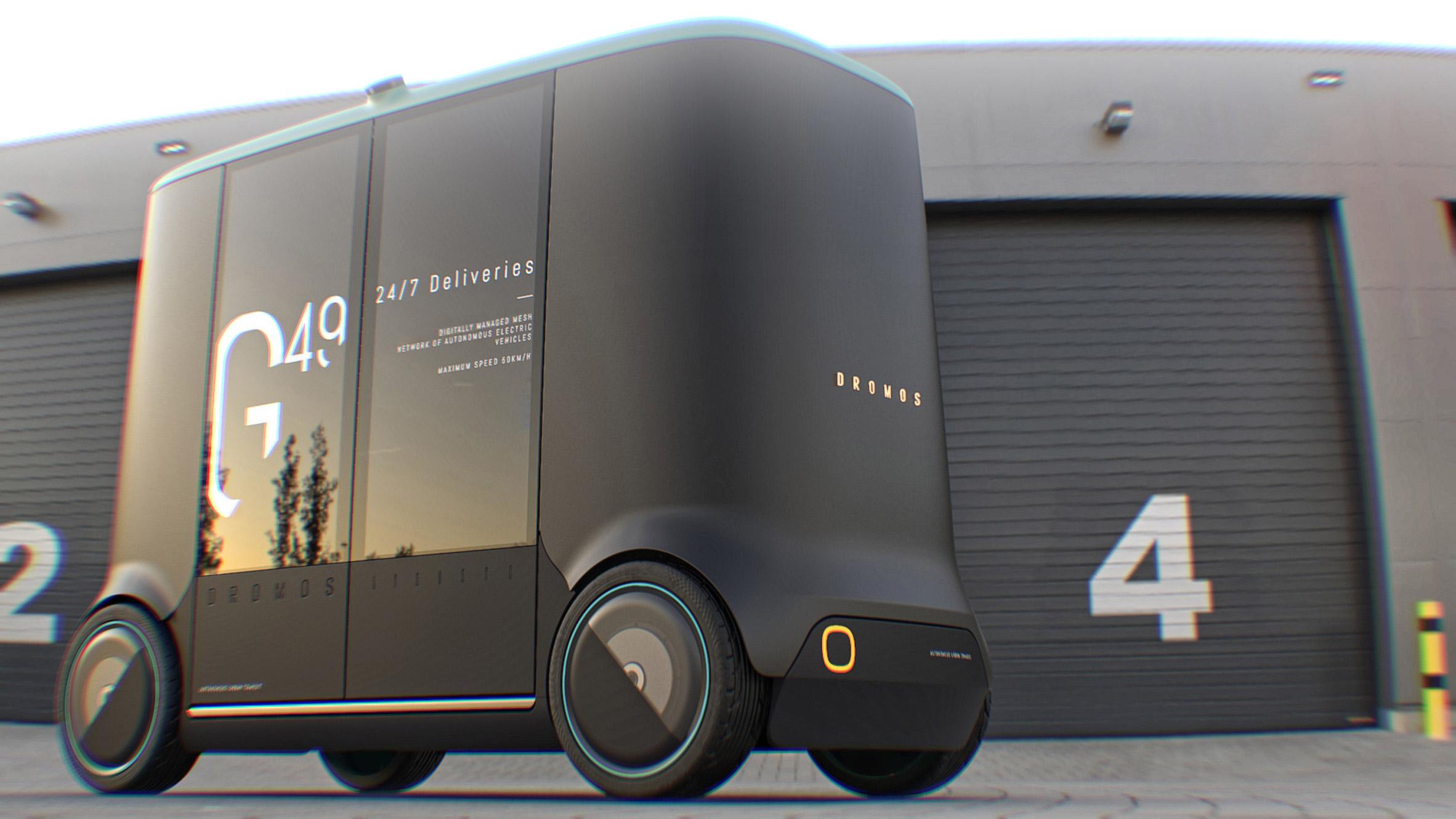 PriestmanGoode designs autonomous on-demand passenger and cargo vehicles for Dromos
