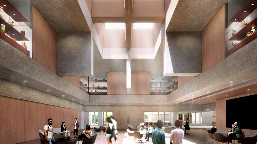 Grand hall at Princeton University Art MuseumexpansionAdjaye Associates
