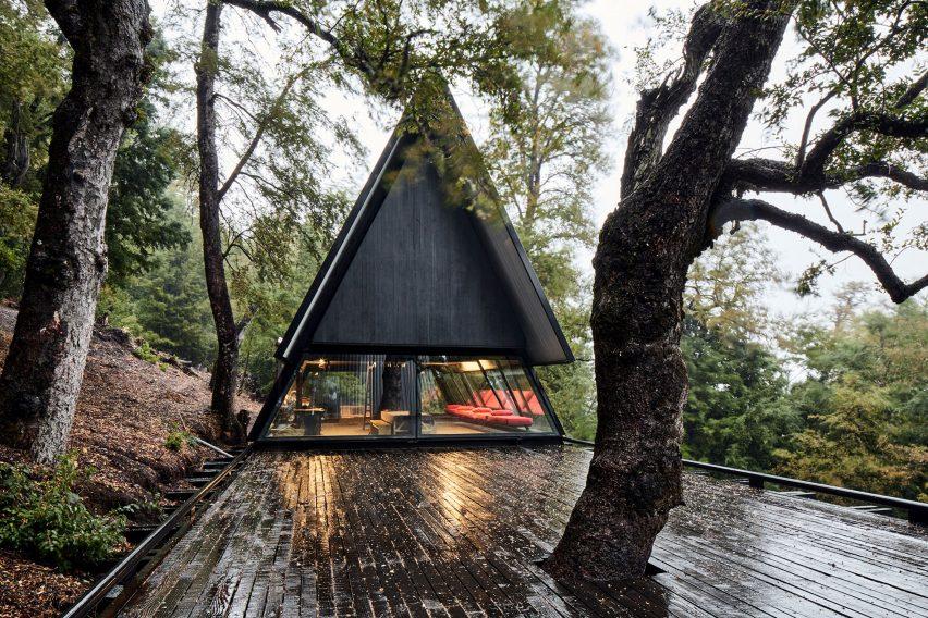 View of Room volume Prism House + Room by Smiljan Radić