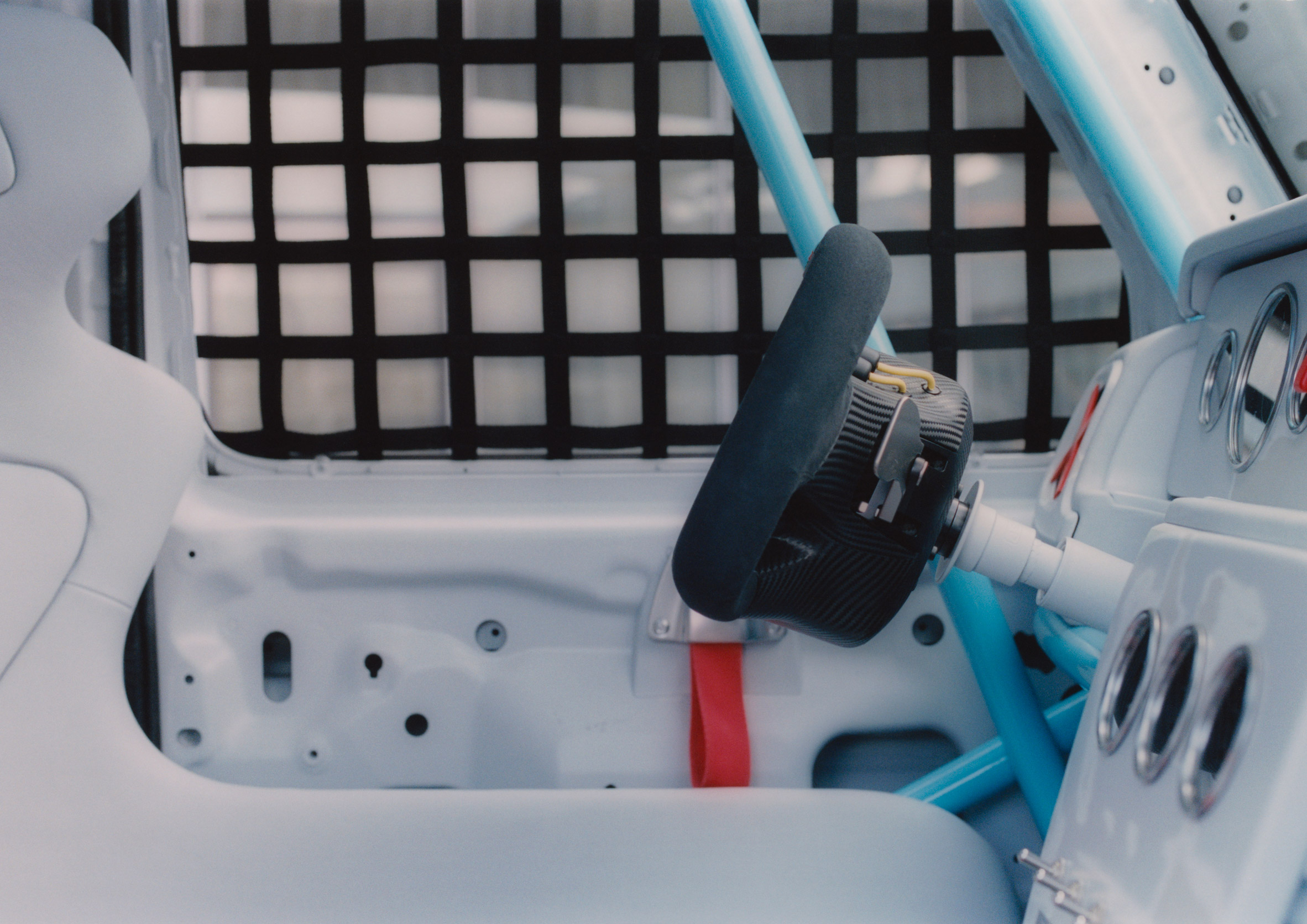 Interior view of Project Geländewagen car by Virgil Abloh and Mercedes Benz