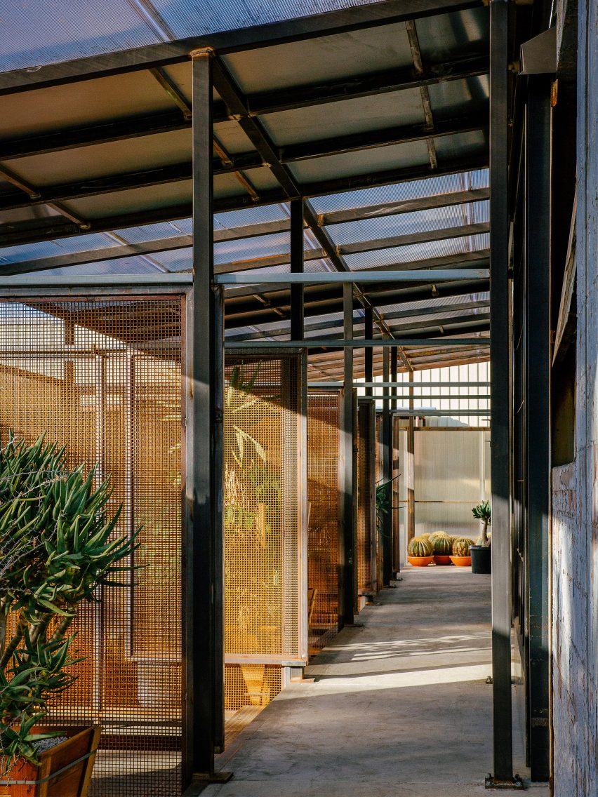 Pathway through Santa Monica Greenhouse by Part Office