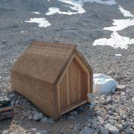 University of Stuttgart builds prototype thatched Alpine hut