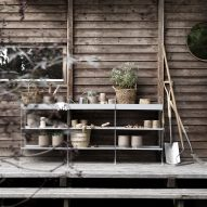 String takes 1940s minimalist shelving system outdoors
