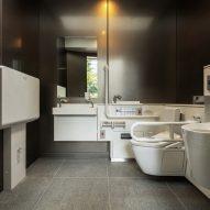 Accessible toilet at Tadao Ando's toilet in Jingu-Dori Park, Tokyo
