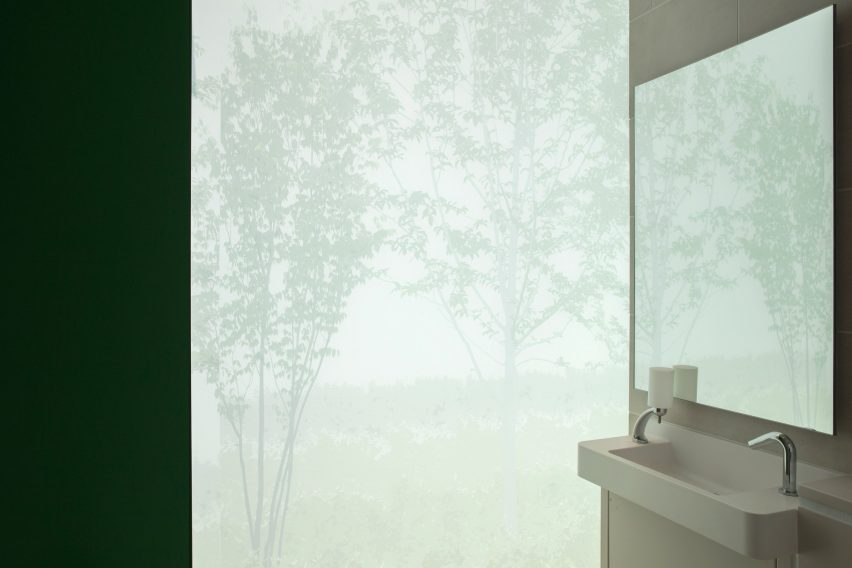 Froster glass toilet cubicle