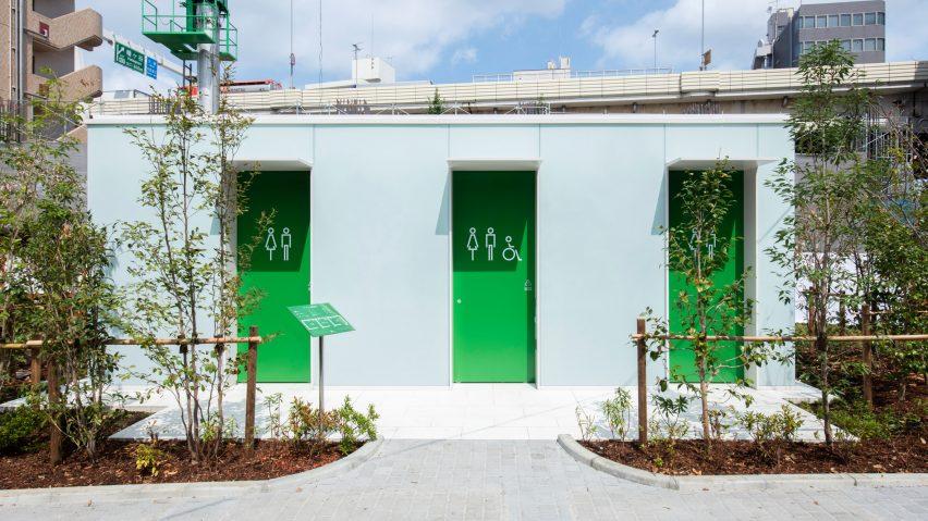 Takenosuke Sakakura creates lantern toilet in Tokyo's Nishihara Itchome Park