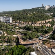 Aerial of Technion Entrance Gate by Schwartz Besnosoff Architects