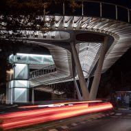 Night view of Technion Entrance Gate by Schwartz Besnosoff Architects