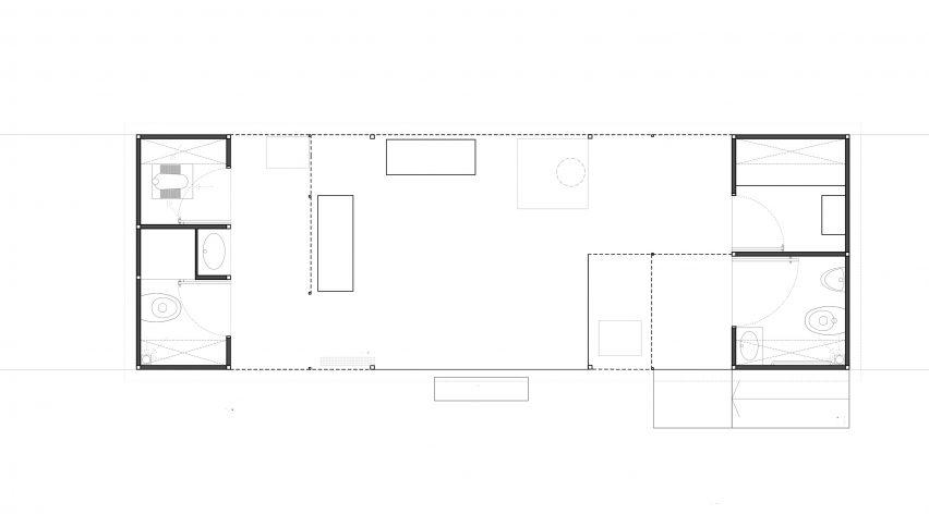 The Light Box – Restroom for Women plan