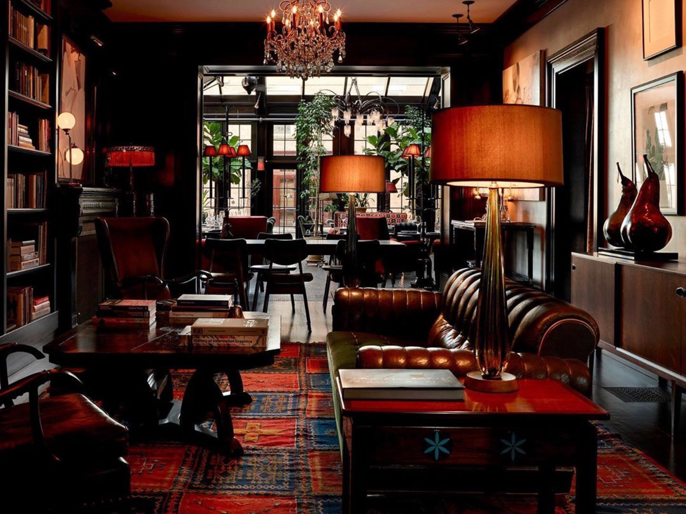 Interiors of The Maker Hotel in Hudson, New York