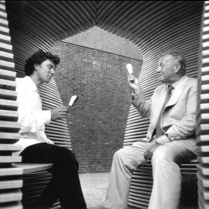 Thomas Heatherwick with Sir Terrence Conran