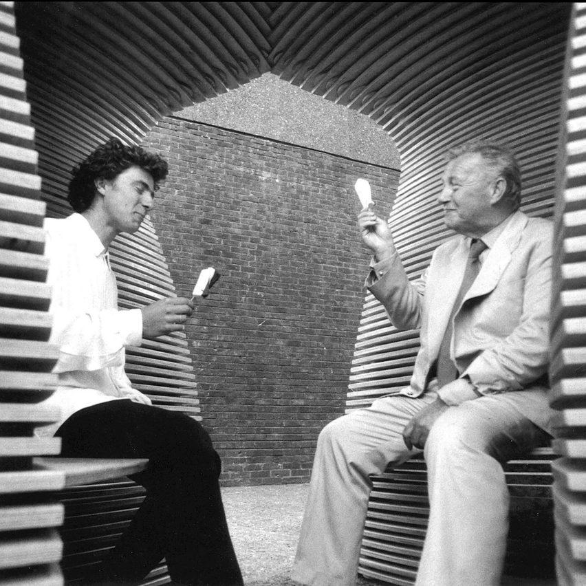 Thomas Heatherwick with Sir Terrence Conran