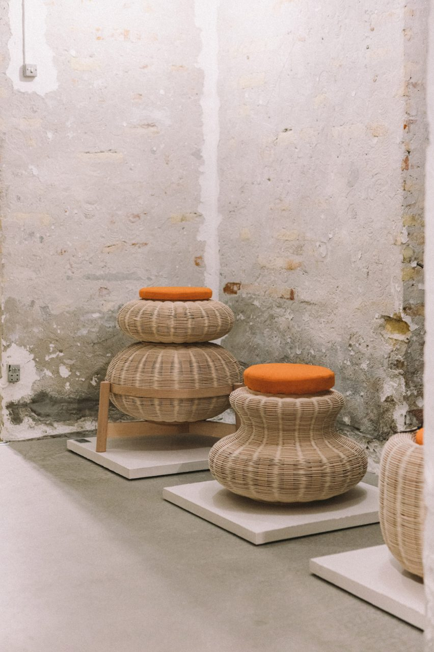Fellah wicker stool by Sia Hurtigkarl Degel and Pia Angela Rasmussen