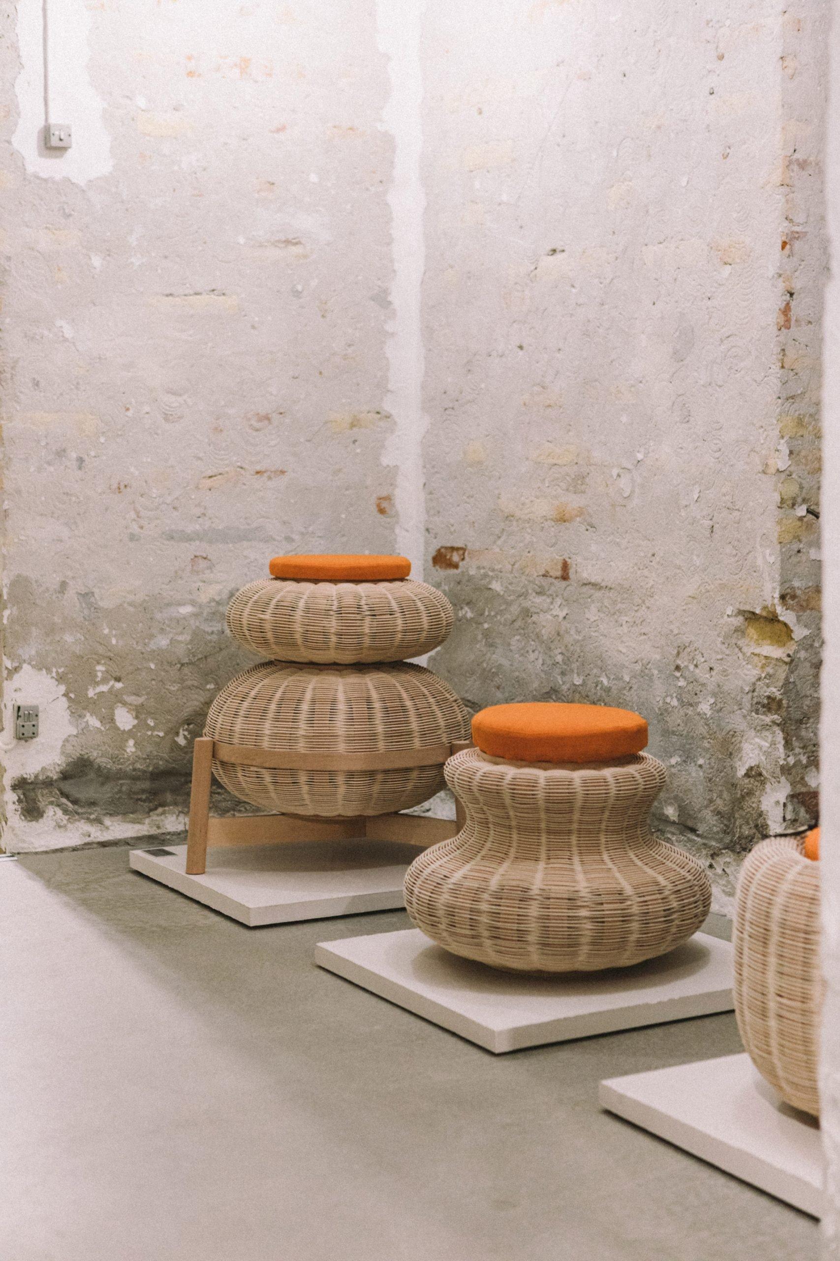 Fellah wicker stool by Sia Hurtigkarl Degel and Pia Angela Rasmussen
