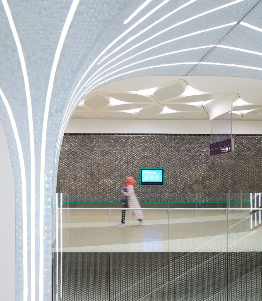 Interior Qatar National Library Station