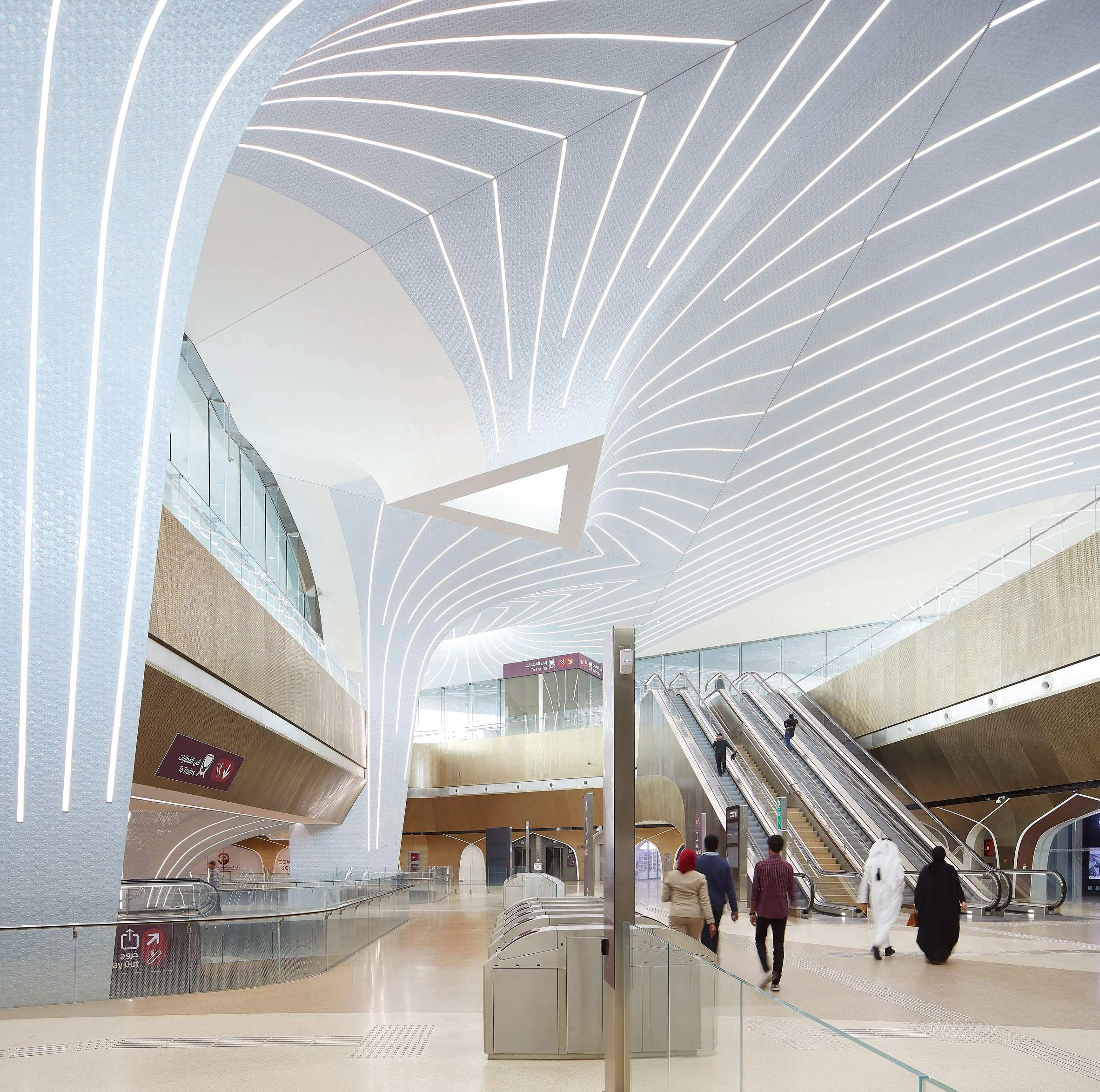 Msheireb station on the Doha Metro by UNStudio
