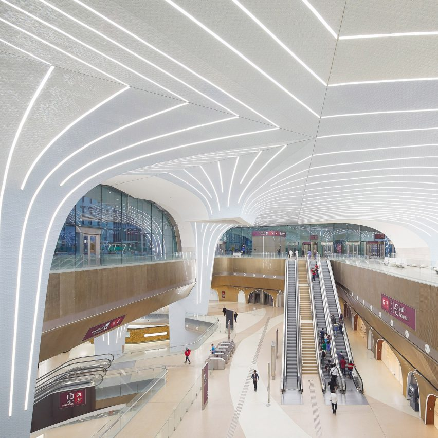 UNStudio creates 37 vaulted stations for Doha Metro