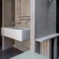 Kitchen sink in Untiled House extension by Szczepaniak Astridge in London