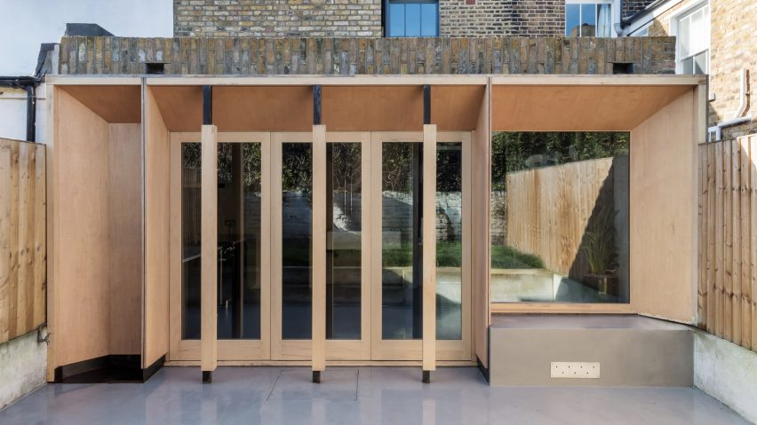 timber facade of Untiled House extension by Szczepaniak Astridge in London