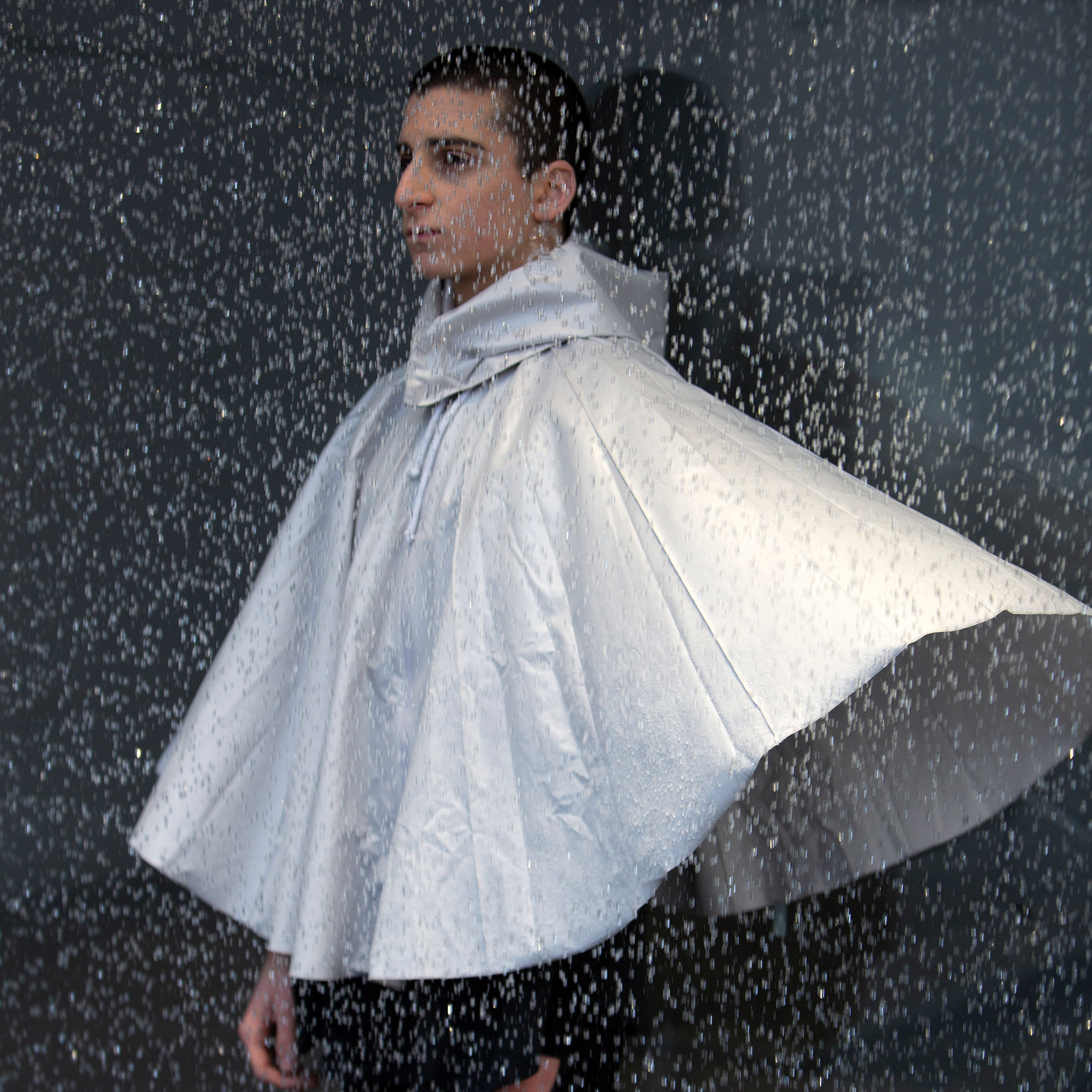Urbanella gender neutral recycled polyester umbrella cape by Studio Mesh