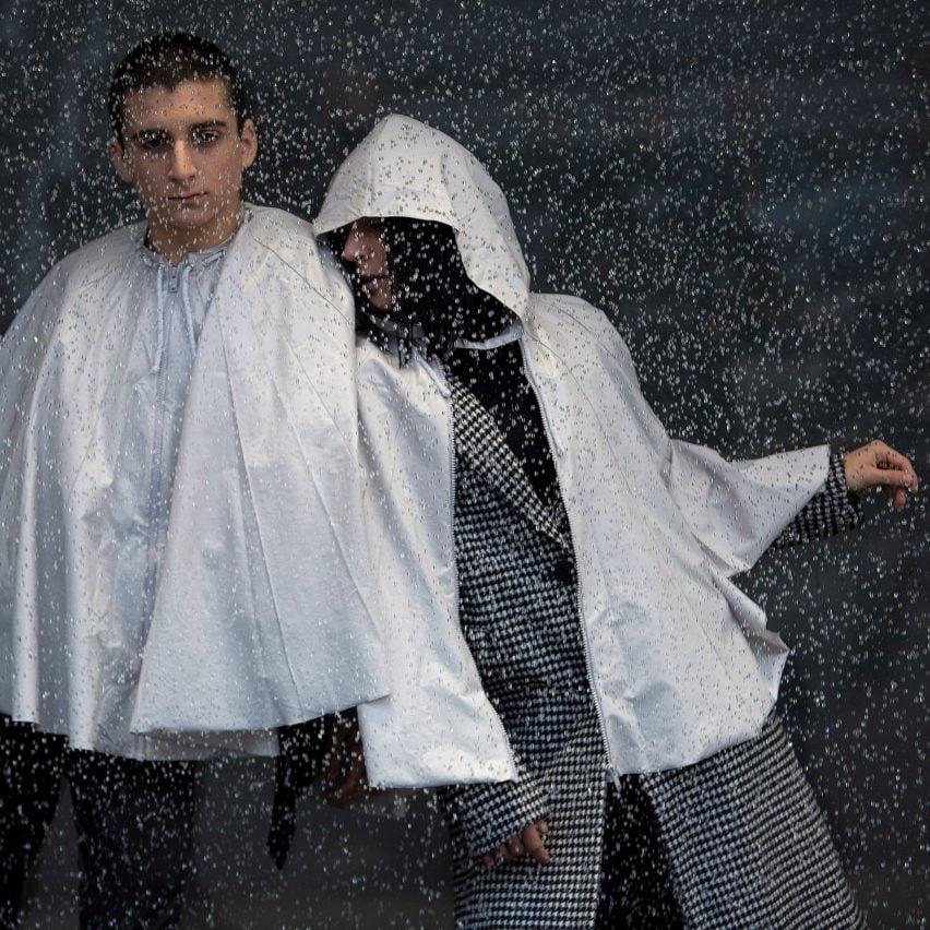 Urbanella is a rainproof cape that packs away into a handy bag
