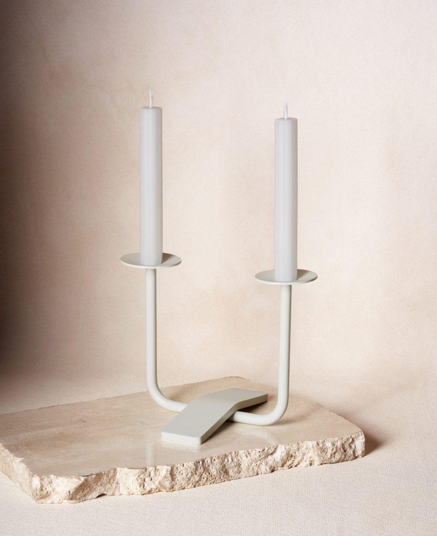 Rest Candleholder in Via Maris by Dana Hollar Schwartz and Jamie Wolfond