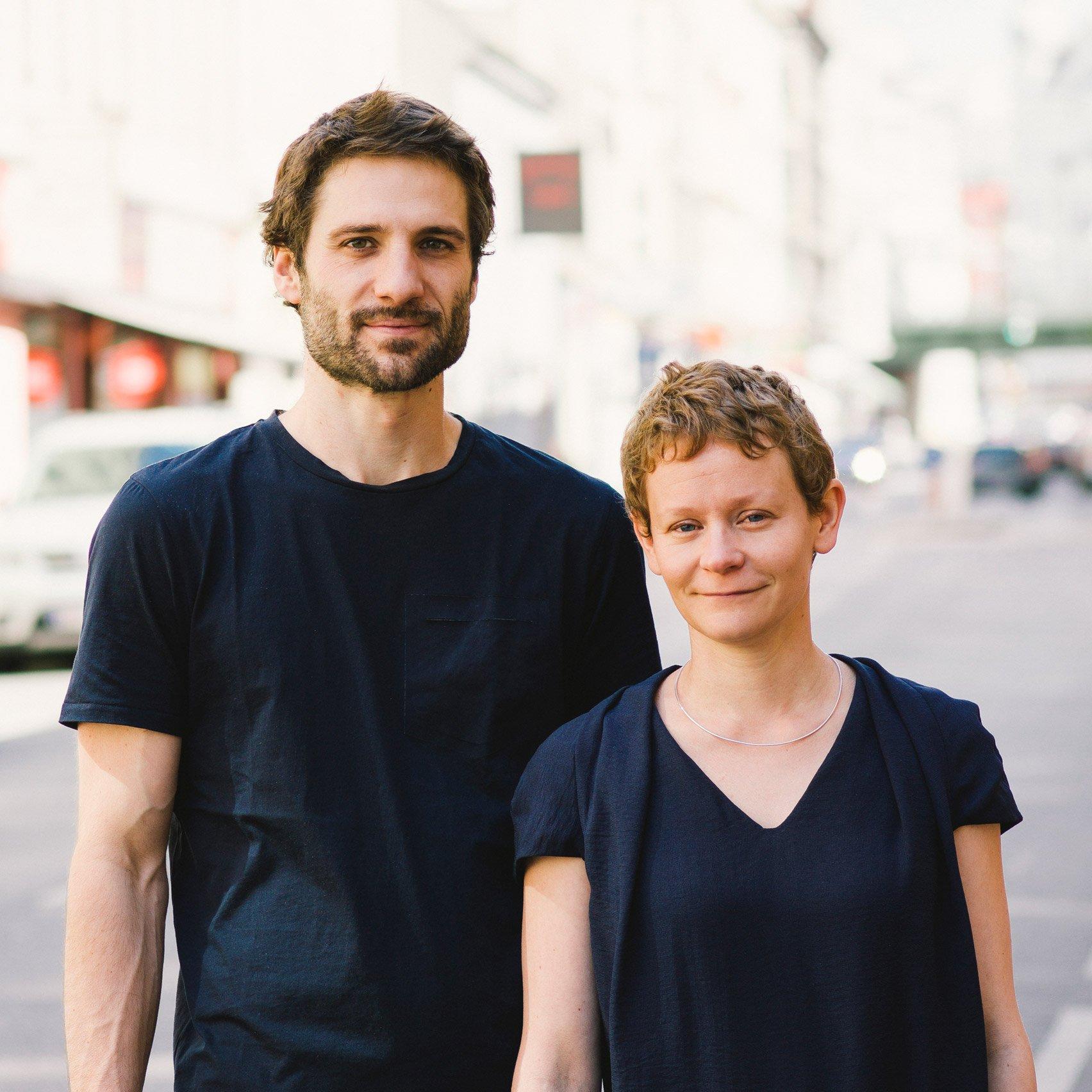 Portrait of Katharina Mischer and Thomas Traxler from Mischer'traxler studio