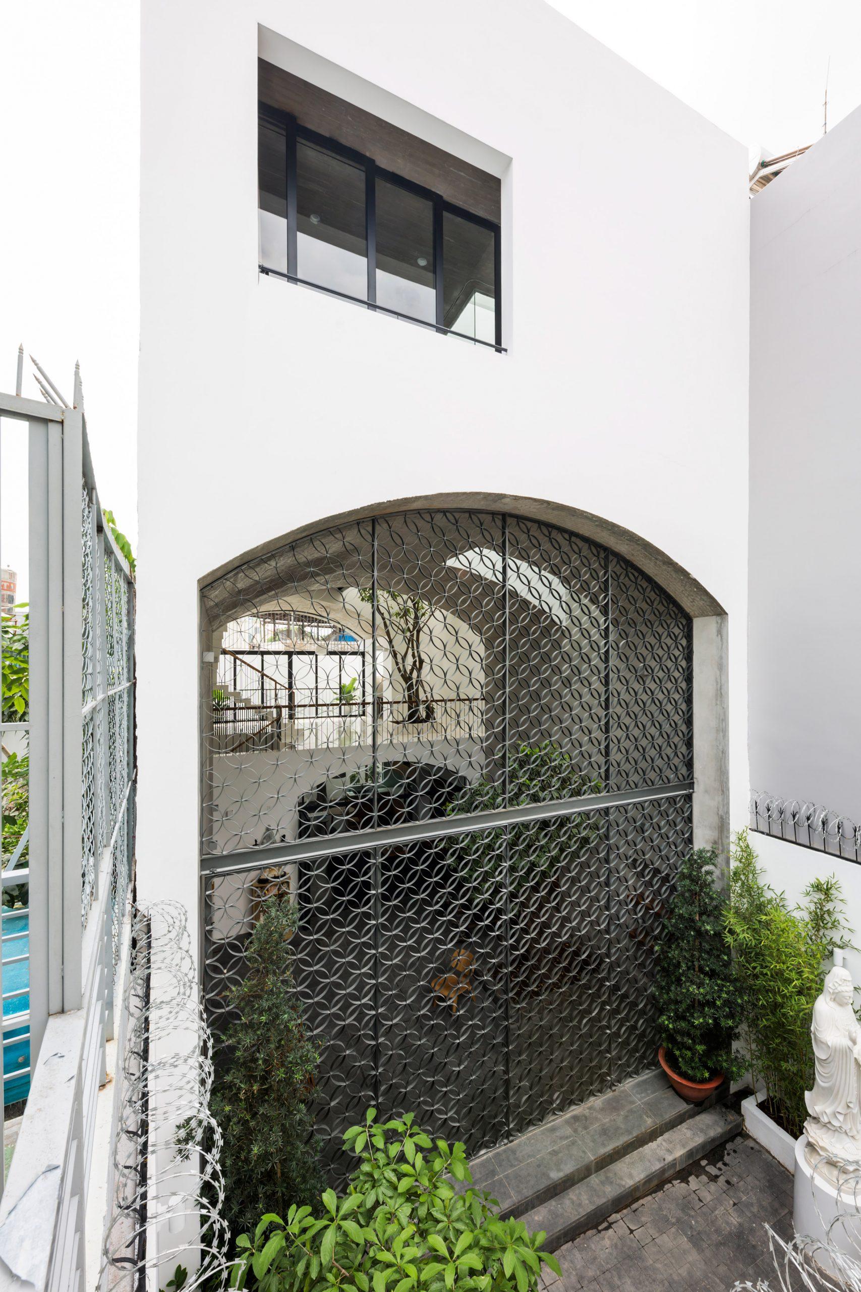 Exterior of Vom House in Vietnam by Sanuki Daisuke Architects