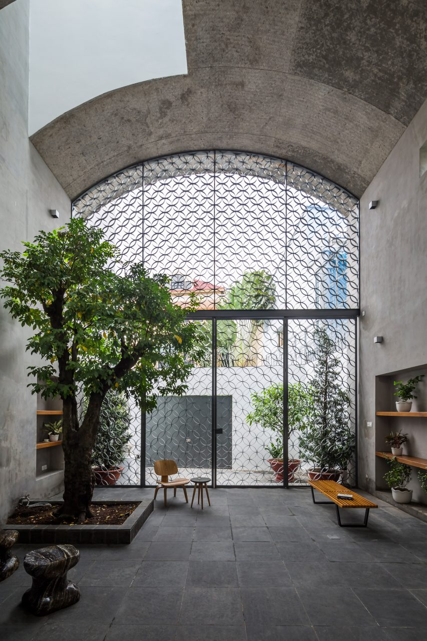 Ground floor of Vom House in Vietnam by Sanuki Daisuke Architects