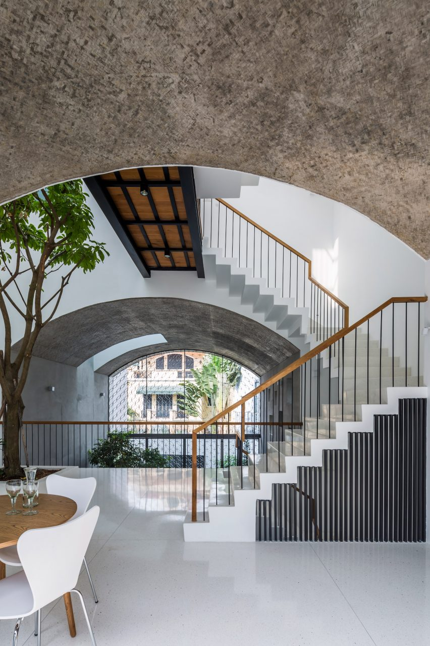 First floor of Vom House in Vietnam by Sanuki Daisuke Architects