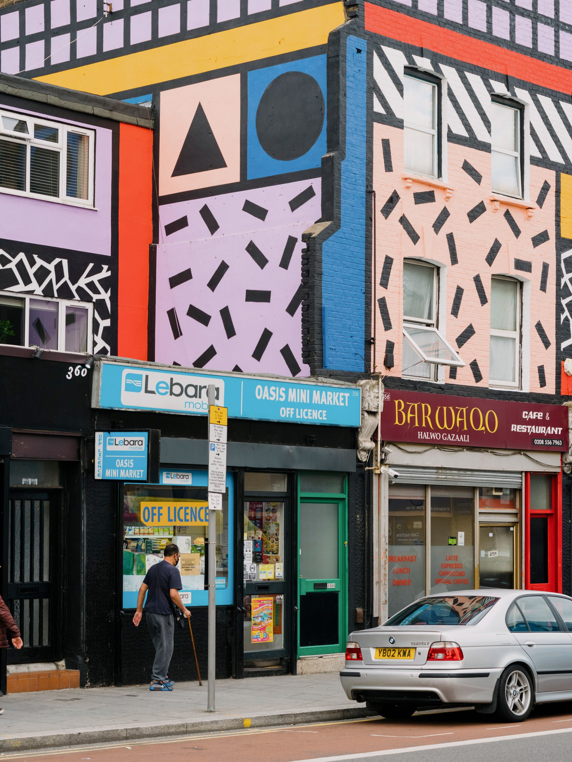 Camille Walala revives Leyton high street with community-funded artwork