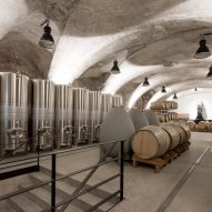 Clemens Strobl winery by Destilat features greyscale interiors