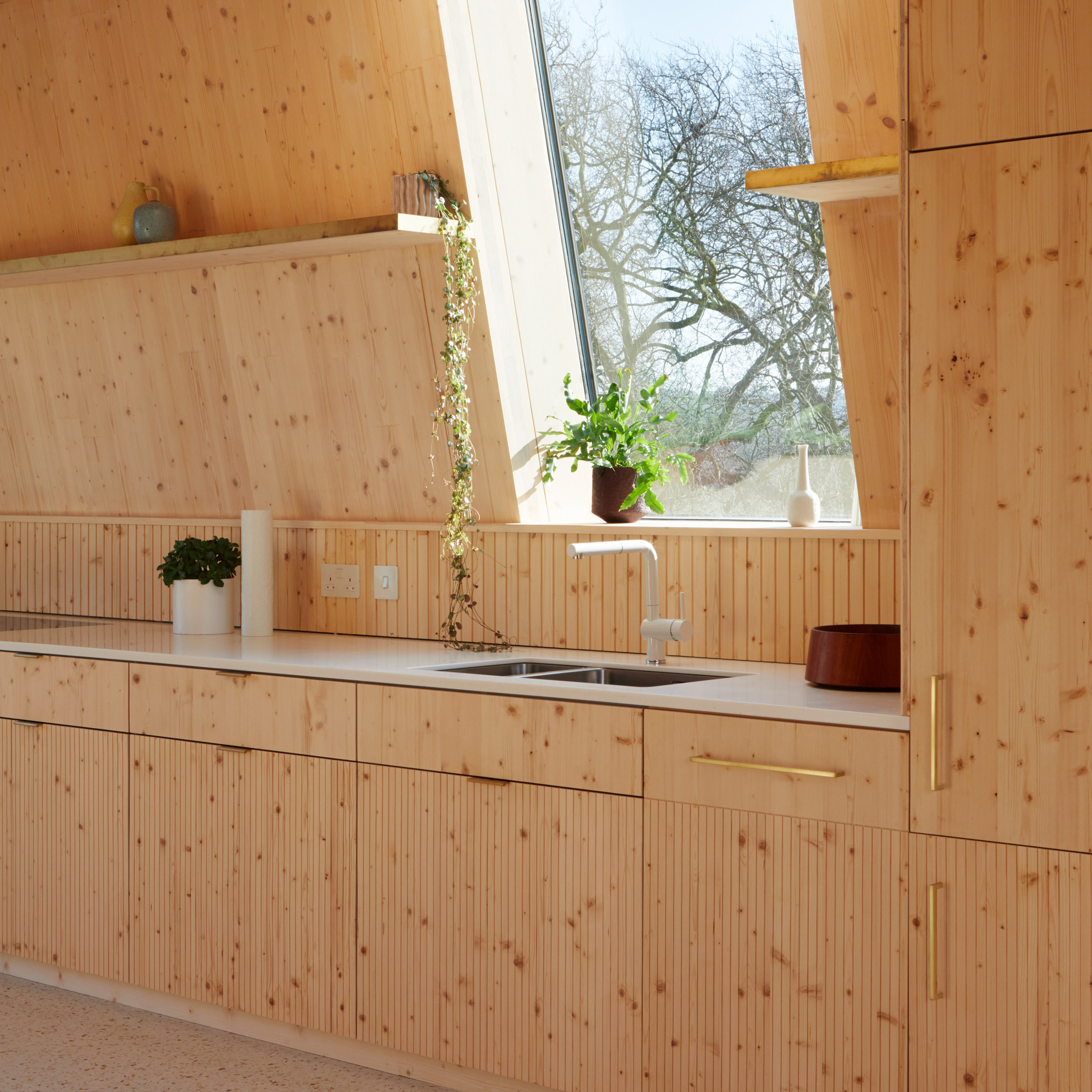 Wooden kitchens: The Rye Apartments by Tikari Works