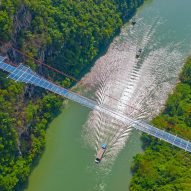 World's longest glass-bottomed bridge opens in China