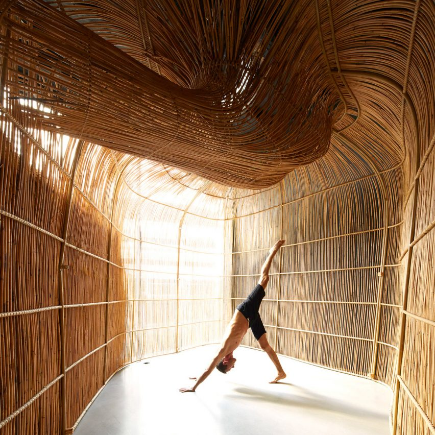 "Rattan yoga pods create ""space of captivating calmness"" for studio in Bangkok"