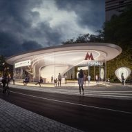 Zaha Hadid Architects reveals design of Moscow metro station