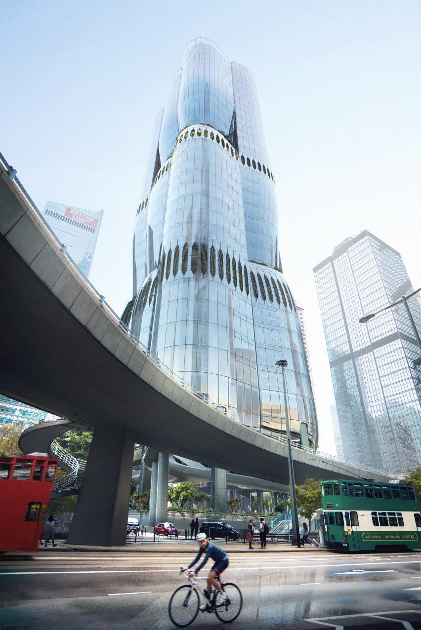Hong Kong skyscraper looks like Bauhinia bud