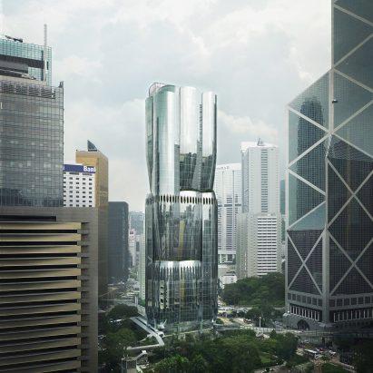 Zaha Hadid Architects Hong Kong skyscraper at 2 Murray Road