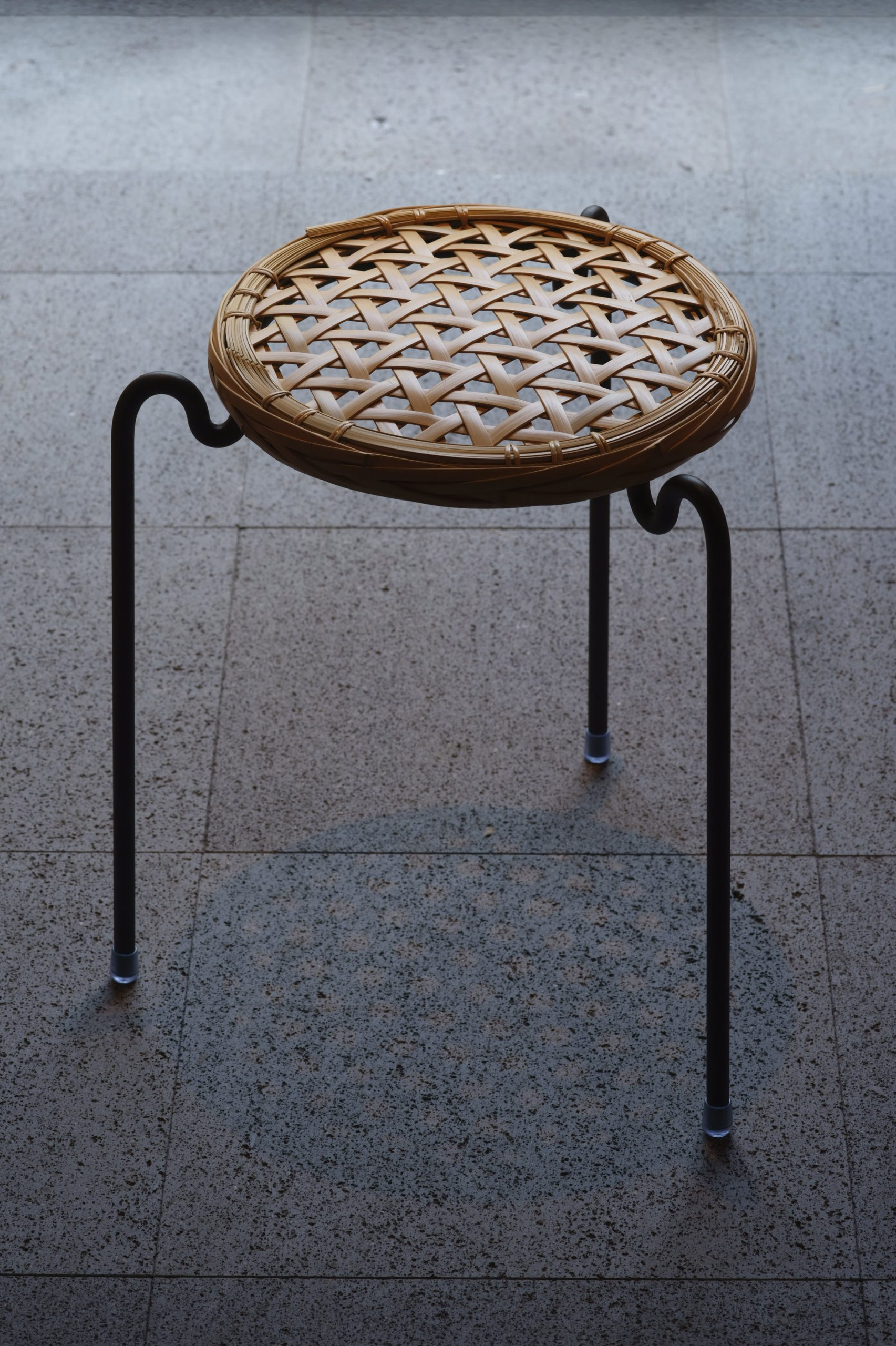 Vegahouse designs Zalue stool with removable woven bamboo seat