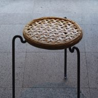 Vegahouse designs stool with removable seat made of woven bamboo