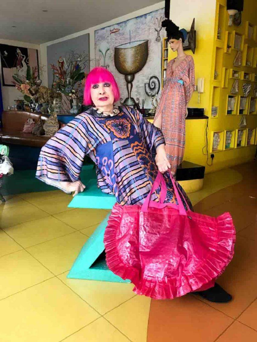 Zhandra Rhodes designs Karismatisk version of IKEA Frakta bag
