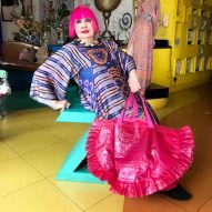 Zandra Rhodes gives IKEA Frakta bag a pink and frilly makeover