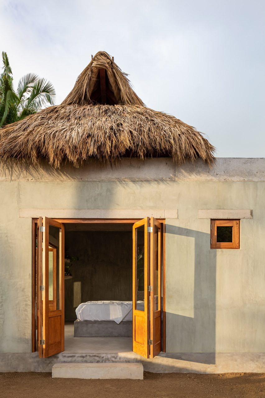 Telhado de palapa de Litibu por Palma
