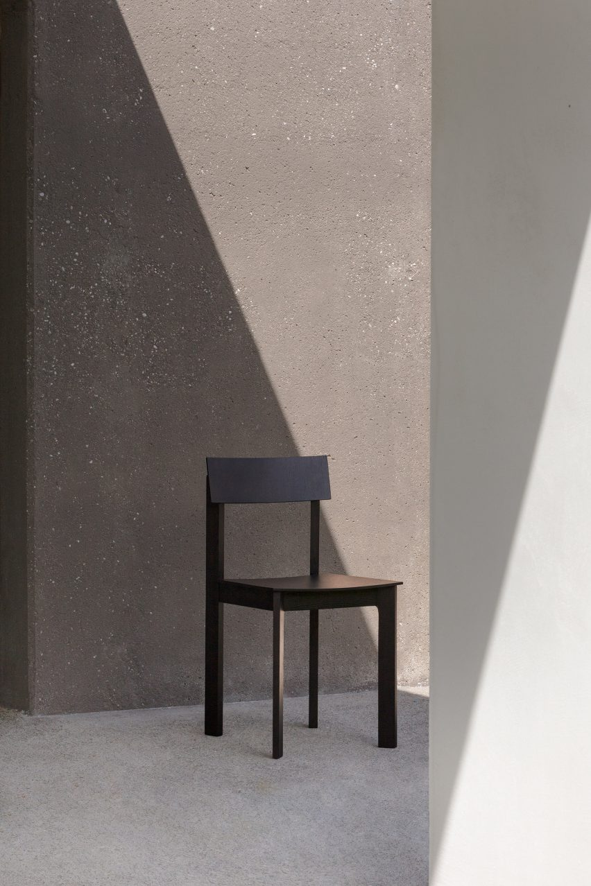 Stained-wood Candid chair for Zilio A&C