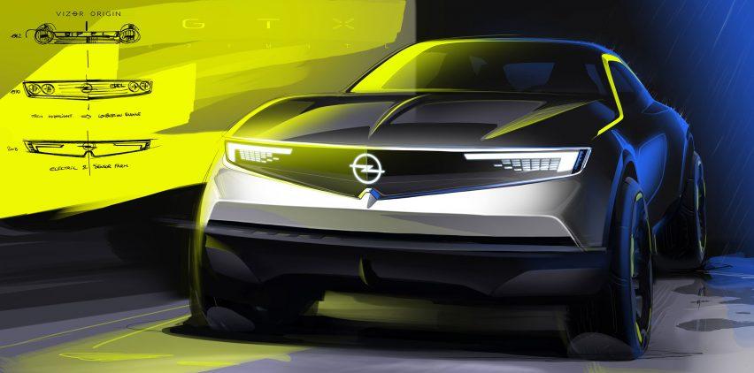 Opel Mokka-e concept drawing