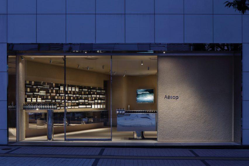 Exterior of Aesop in Shinjuku