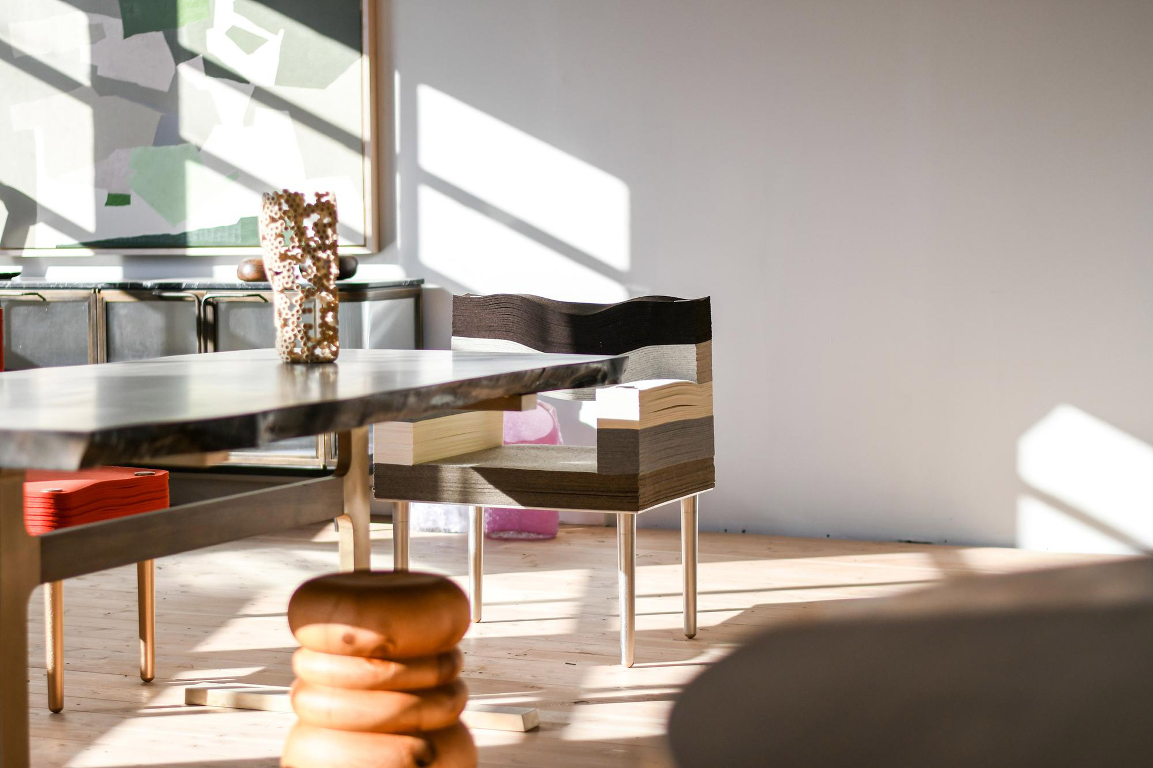 Decorative table at Alpenglow Projects in Vancouver